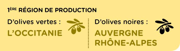 Les premières régions de la filière olive