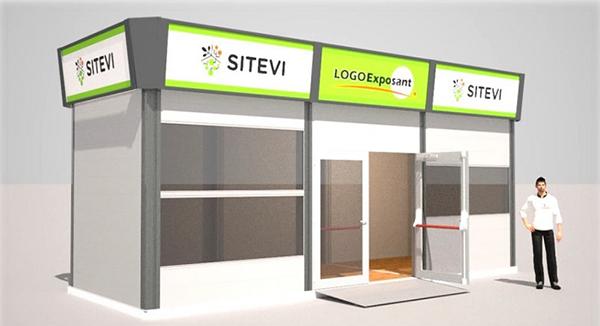 Visuel stand réceptif extérieur SITEVI